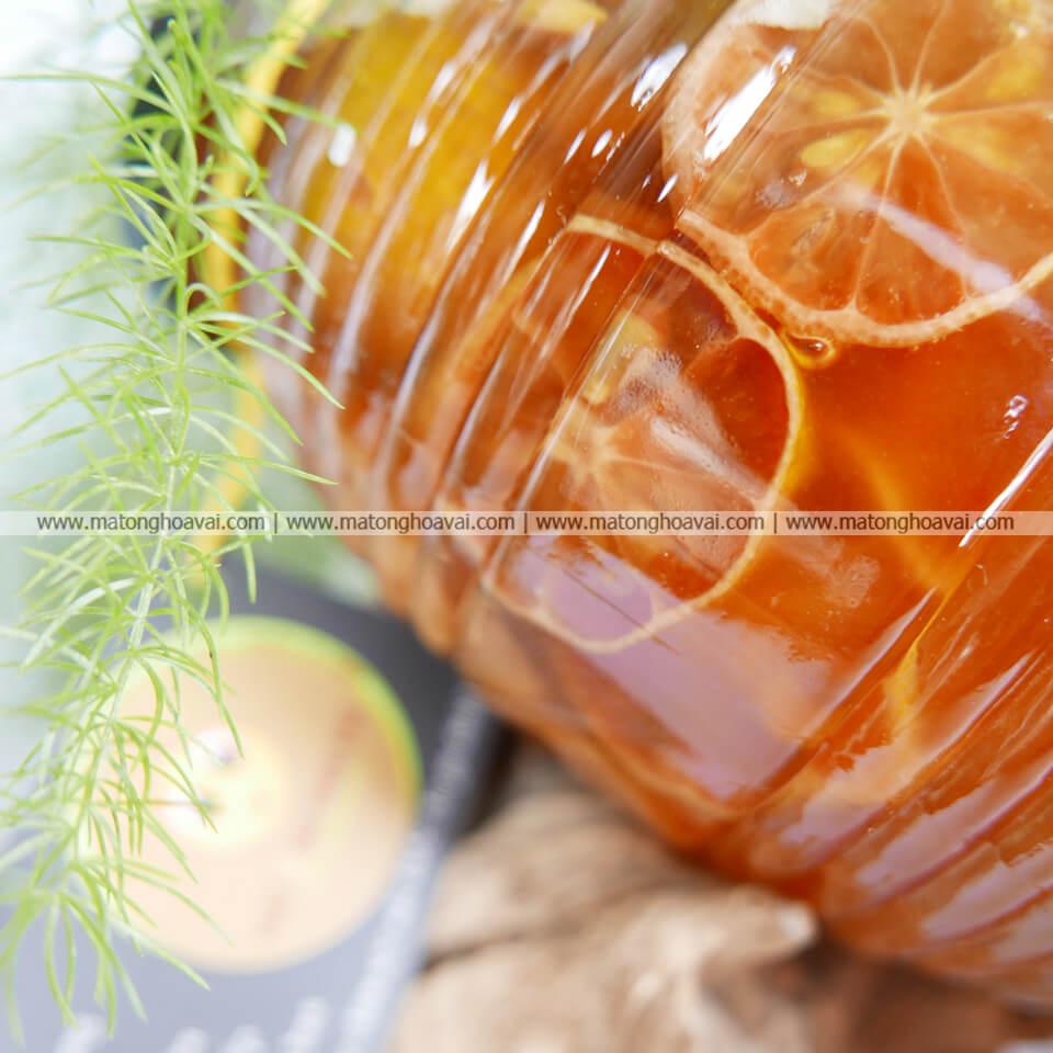 Chanh đào ngâm mật ong 750ml
