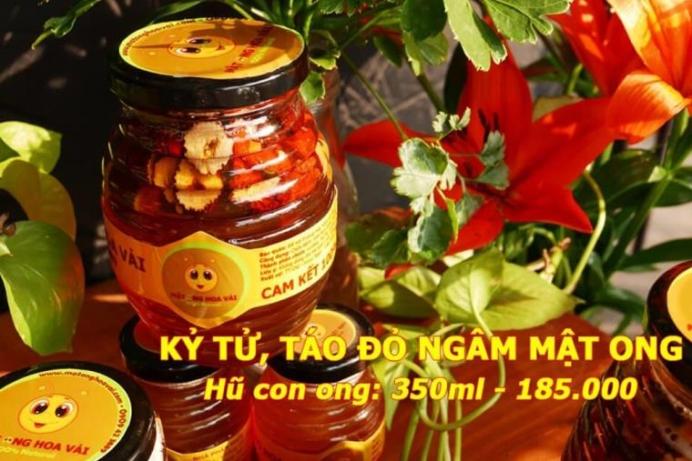 Kỷ tử táo đỏ ngâm mật ong 350ml